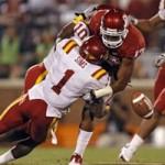David Sims forces an Oklahoma fumble