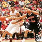 Diante Garrett leads the Cyclones in points, assists and steals