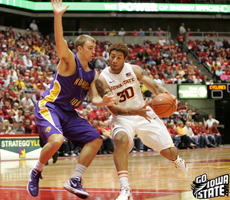 Royce White led the Cyclones with 15 points, 8 rebounds & 5 assists