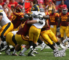 The Iowa State defense played well before wearing down late in the game