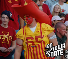 This fan got all dressed up for Iowa State