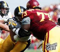 Reggie Stephens and the Cyclone OL was very good against Iowa and they should continue to get better