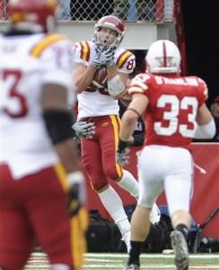Iowa State WR Jake Williams scored on a 47 yard reception
