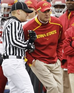 Paul Rhoads' Cyclones came up short against the Jayhawks