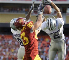 Jake Williams makes a big play with time winding down - AP Photo/Charlie Riedel