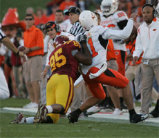 Bailey Johnson was called for a horse collar on this play which kept the Okie State drive alive and ended any hope for Iowa State