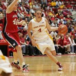 Alison Lacey scored 23 points, but it wasn't enough against the undefeated Cornhuskers